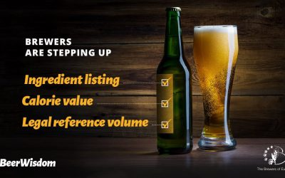 All beers should be labelling ingredients and calories by end 2022